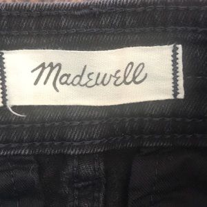 Madewell Skirts - Madewell Black denim A Line Skirt size 6